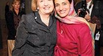 Melanne Verveer with Global Trailblazer Awardee Sheika Lubna al Qasimi