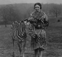 Viola Winmill and her zebra, Nderu (Photos by Freudy Photo/Chisholm Gallery)