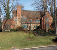 The Tudor-style mansion at 4921 Rockwood Parkway N.W.
