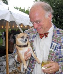 "Wayne Chatfield-Taylor with Taco at Mansfield Farm's ""Fun(d) raiser"" for the Blue Ridge Hunt."