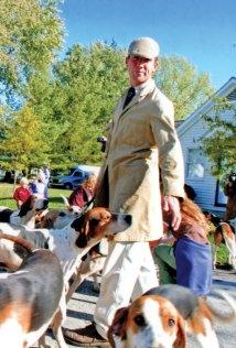 Richard Roberts with the Piedmont hounds. Photo by Karen Buckley.