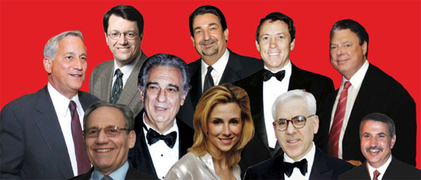 Peter Barris, Ted Leonsis, Joe Robert, Thomas Hale Boggs Jr., Walter Isaacson, Tom Friedman David Rubenstein Bob Woodward, Placido Domnigo, Katherine Bradley,