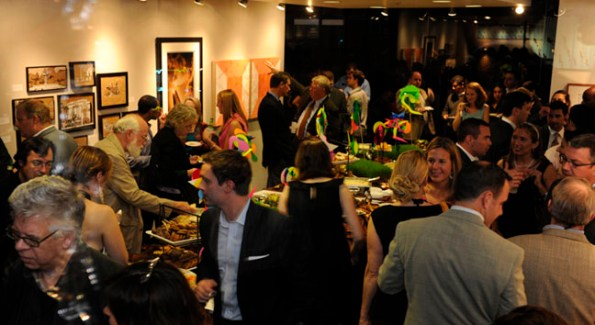 Art lover and artists mix in the offices of Hickok Cole.