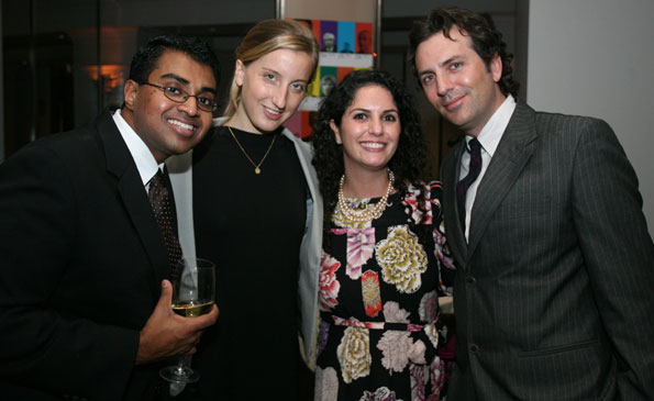 AbC's  Polson Kanneth, Katie Bosland, and Courtney Cohen with Washington Life Magazine Executive Editor Michael Clements