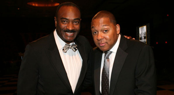 Reggie van Lee and Wynton Marsalis at the Washington Performing Arts Gala, 2009. (Photo by Kyle Samperton)