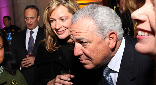 "Mariella Trager and Morocco Amb. Aziz Mekouar. ""Journey to Mecca"" IMAX Gala Screening. Museum of Natural History. (photo by Tony Powell)"