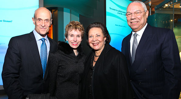 "Michael and Meryl Chertoff with Alma and General Colin Powell. ""Journey to Mecca"" IMAX Gala Screening. Museum of Natural History. (photo by Tony Powell)"