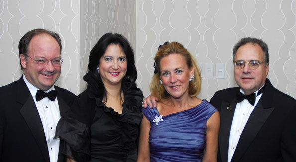 Jack and Theresa DeGioia with Tanya Potter Adler and Howard Adler, Photo by Kyle Samperton