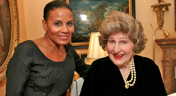 Michelle Fenty and Letitia Baldrige. (photo by Tony Powell)