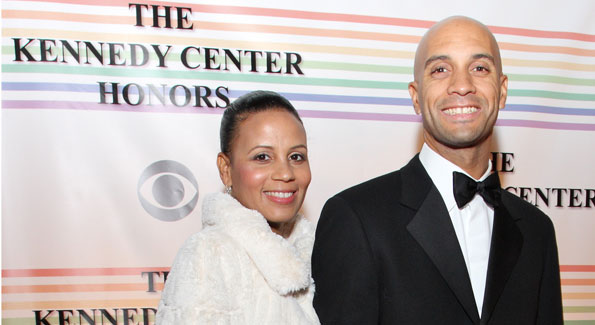 Mayor Adrian and Michelle Fenty at The Kennedy Center Honors.