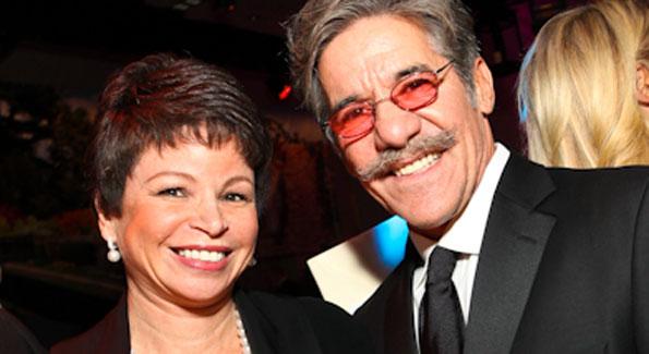Valerie Jarrett and Geraldo Rivera.