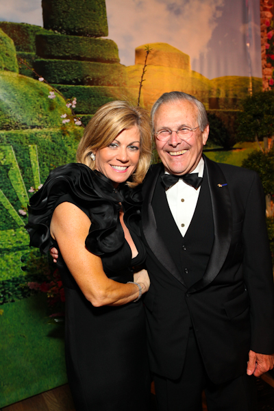 Laurie Luhn and Donald Rumsfeld