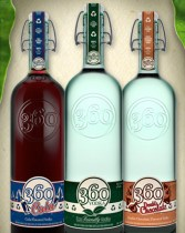 360 Vodka now comes in three flavors.