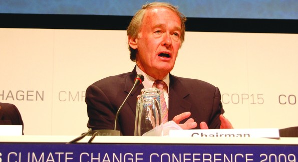 Rep. Ed Markey speaks at the Copenhangen climate conference.