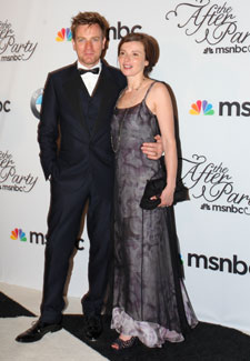 Ewan McGregor, Eve Mavrakis. MSNBC WHCD After-Party. May 1st, 2010. Photos By Samantha Strauss.