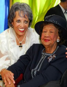 Dorothy Height with Dr. Johnnetta B. Cole (Photo By Kyle Samperton)