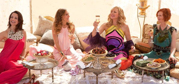 The girls of Sex and the City 2 in Morocco Credit: Warner Bros.