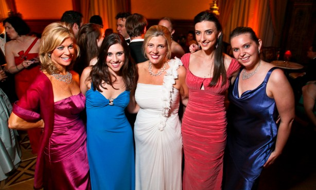 Laurie Luhn, Tara Palmeri, Allison Priebe Brooks, Kate Michael and Nikki Schwab at the 2010 Opera Ball. <i>Photo by Tony Powell.