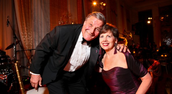 Society Bandleader Peter Duchin and Philanthropist Adrienne Arsht. <i>Photo by Tony Powell.</i>