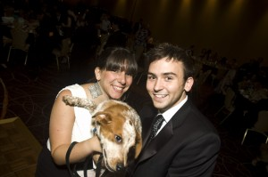 Tommy McFly and Stephanie Flax at the Bark Ball