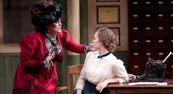 Elizabeth Ashley as Mrs. Warren and Amanda Quaid as Vivie Warren in the Shakespeare Theatre Company's production of Mrs. Warren's Profession, directed by Keith Baxter. Photo by Scott Suchman.