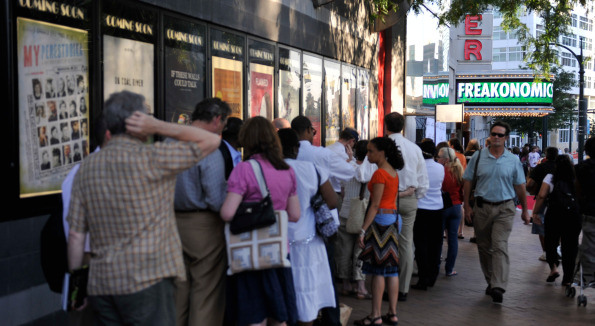 Washingtonians wait in line eagerly at the Silverdocs opening. Photo courtesy of Silverdocs.
