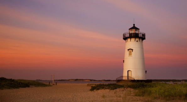 Dazzling View of Edgartown Lighthouse From the Harbor. Courtesy of TC Palm.