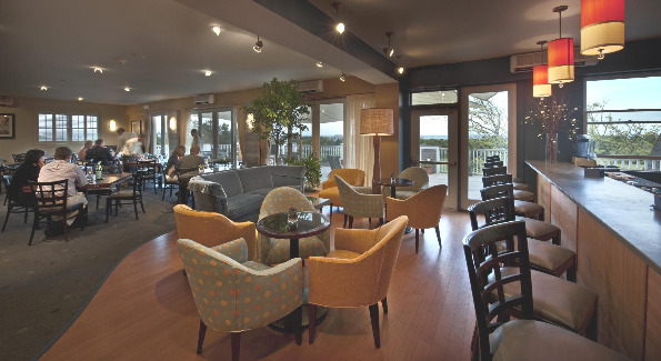 Inside Lure Grille's Lively Dining Room at the Winnetu Ocean Side Resort