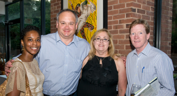 Freelance writer Arnesa Howell, Bill Moeller, MoKi Media's Sherry Moeller, and Advantage Publishing's COO Ralph Crozier