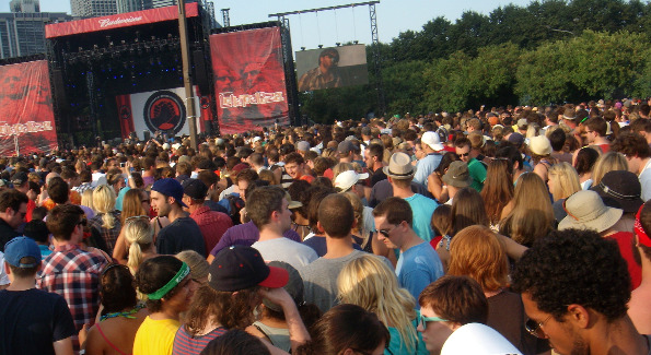 The crowd at The Black Keys.