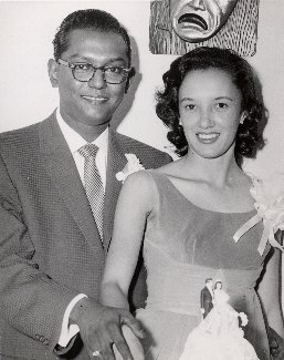 Ben & Virginia Ali on their wedding day.