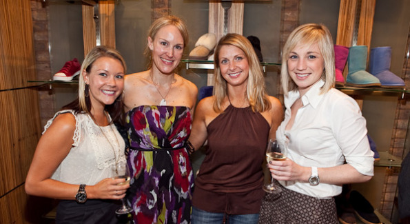 Guests Nikki Grant, Susanne Hyer, Lynsey Valencia, and Sarah Gallo pose with their favorite styles. Photo courtesy of Fingerprint DC.