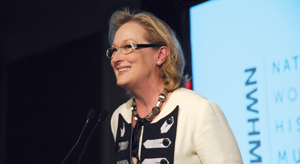 "Meryl Streep delivered an address for the ""Our Nation's Daughters"" Gala."