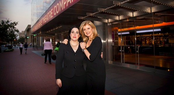 Goldy Kamali and Arianna Huffington. Photo by Kristina Sherk/FedScoop.