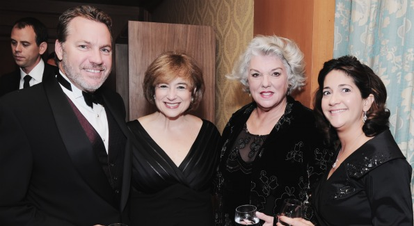 Board member Roger Yoerges, with Linda Levy Grossman, host Tyne Daly, and Denise Esposito. Photo by Shannon Finney Photography.