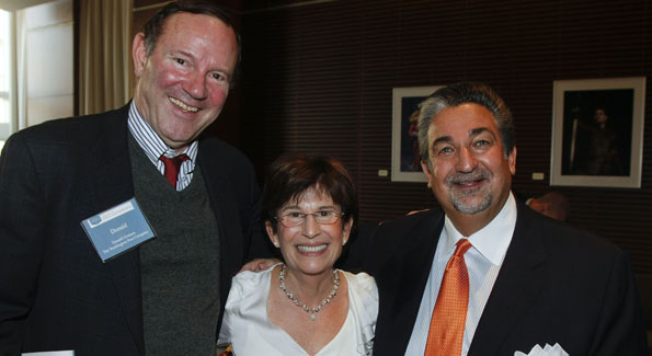 Donald Graham, chairman and CEO of the Washington Post; Barbara Harman, President and Editor of the Catalogue for Philanthropy; and Ted Leonsis, owner of the Washington Capitals/Wizards/Mystics and keynote speaker. (Photo courtesy of Leigh Vogel)