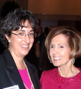 From left: Sally Rudney and Ambassador Connie Morella.