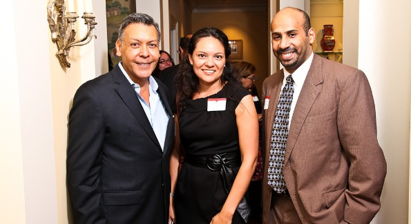 Felix Sanchez, National Hispanic Foundation for the Arts; Delia de La Vara, NCLR Vice President, California Region and President's Council member; and Marco Davis, Director of Engagement, Office of External Affairs for Corporation for National & Community Service. Photo by Tony Powell.