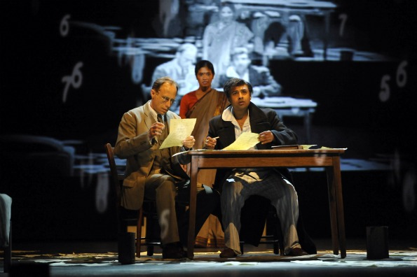 David Annen and Divya Kasturi in Complicite's A Disappearing Number.