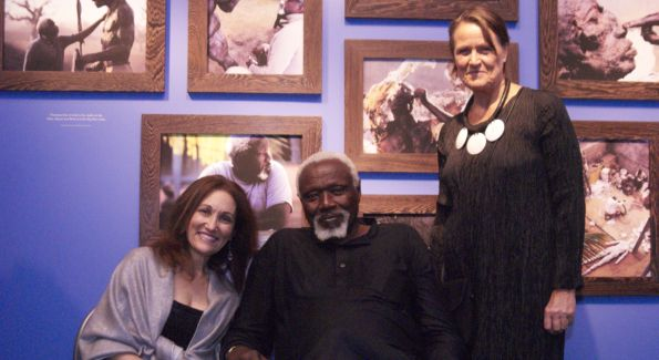 Barbara Portman, Sengalese artist, Ousmane Sow and Beatrice Soule