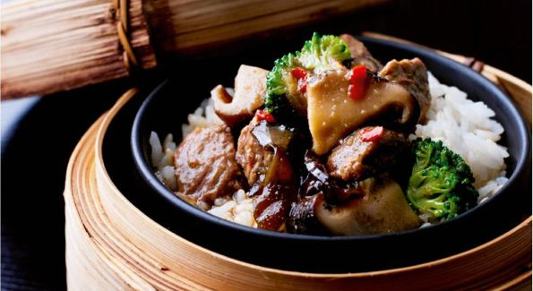The Beef Shitake Rice Pot, part of the exclusive menu for the Chinese New Year.
