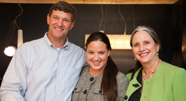 Industry professionals, including Jim Rill of Rill Architects, Kristy Byrd of Lori Graham Design and Ruth Goodwin of Designer Window Works, joined the Aidan Design Team at their 10th anniversary celebration and lighting division launch. Photo by David Phillipich.
