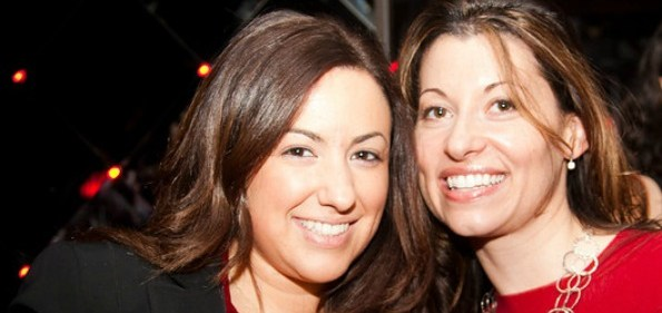 Moet-Hennessy USA's Jackie Geyfman and Michelle DesRosiers. Picture by Dave Phillipich.