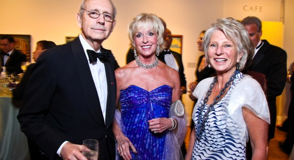 Justice Stephen Breyer, Coach Kathy Kemper, Jane Harman. Photo by Tony Powell. Phillips Collection Gala, 2011.