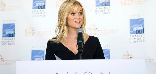 Reese Witherspoon, an Avon Global Ambassador, spoke about the realities of domestic violence before presenting this year's Avon Communications Awards. Courtesy Photo.