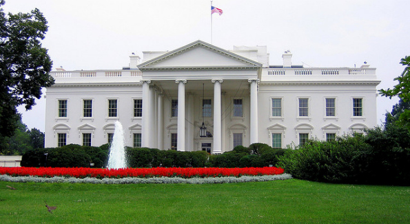 The White House's South Fountain. The original south fountain was installed in 1865. (Photo taken by Anna Fox)