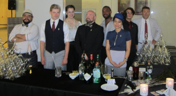 Star bartenders J.P. Caceres (BourbonSteak), Tim Burt (Tabard Inn), Alex Bookless (Passenger/Columbia Room), Jamie Macbain (BourbonSteam), Jon Harris (Shaw Tavern), Chantal Tseng (Tabard), Jason Strich (late of Rasika), and Phil Greene (Museum co-founder).