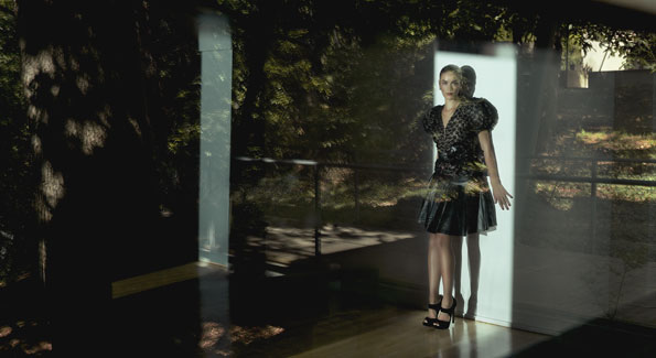 Model Meleena Araceli Velez-Karger photographed at the Embassy of Finland (Photo by Yassine El-Mansouri)