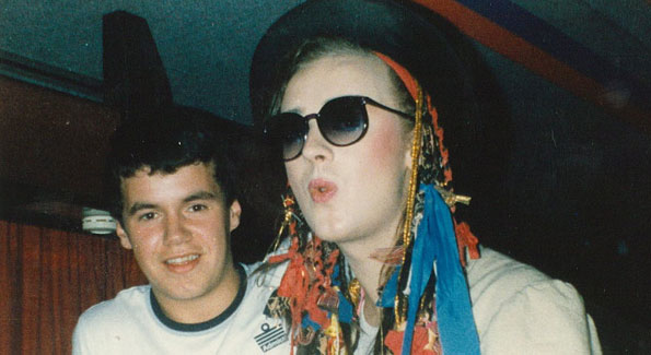 Boy George with a fan (Photo by TerryGeorge via Flickr)