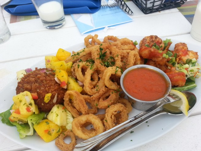 The Deck Sampler at James Landing Grille is a popular appetizer. Photo courtesy of Kelly Magyarics.